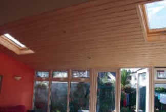 Timber or pvc finish conservatory roof